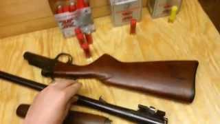 Field striping a Single Shot Break Open Shotgun.