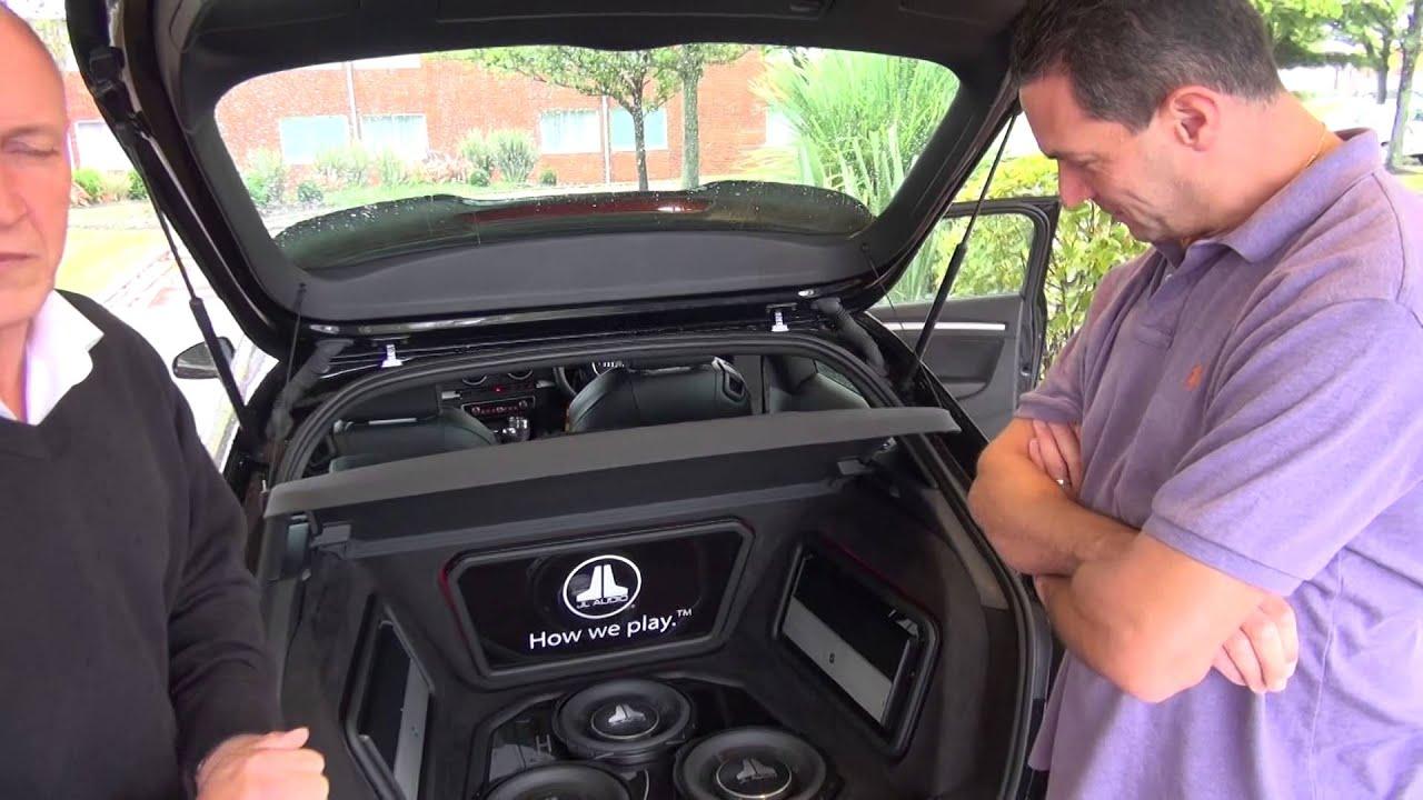 jl audio tw demo car triple  flat install  audi