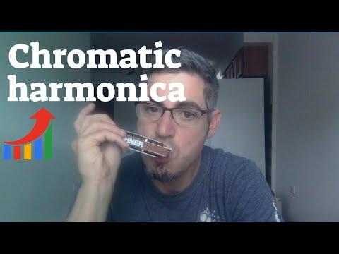 Chromatic harmonica in the key of C