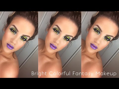 Bright Colorful Fantasy Makeup | Urban Decay Electric Palette