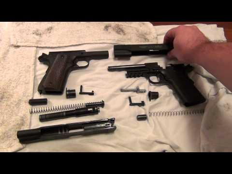 Colt Rail Gun .22lr Disassembly and Compare w/Colt 1911 A1