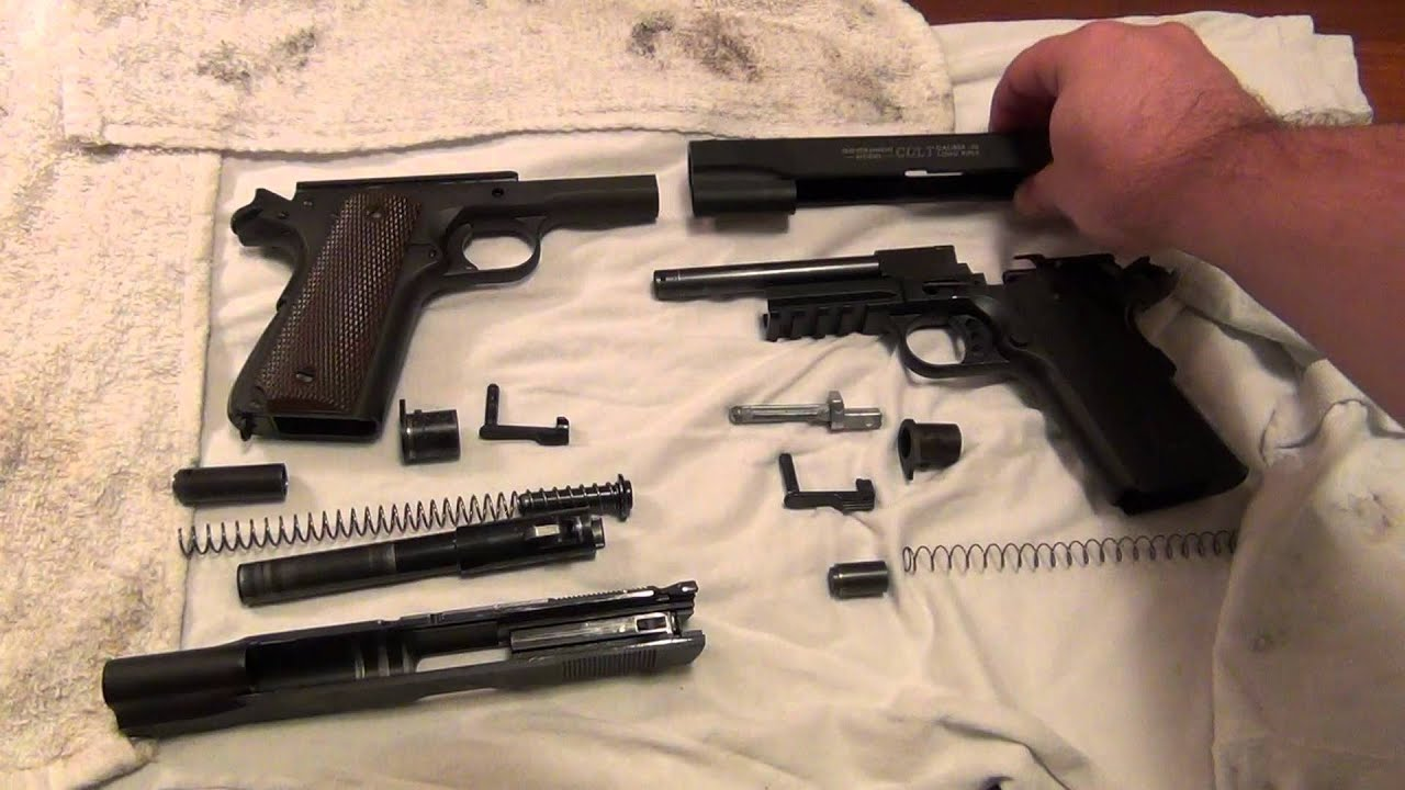 Colt Rail Gun 22lr Disassembly And Compare W Colt 1911 A1