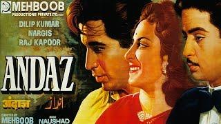 ANDAZ (1949)  Full Movie | Dilip Kumar, Raj Kapoor, Nargis | Classic Hindi Films by MOVIES HERITAGE