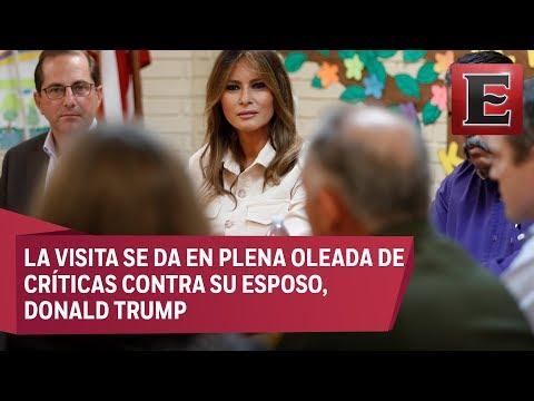 Melania Trump acude a un centro de detención de migrantes en Texas