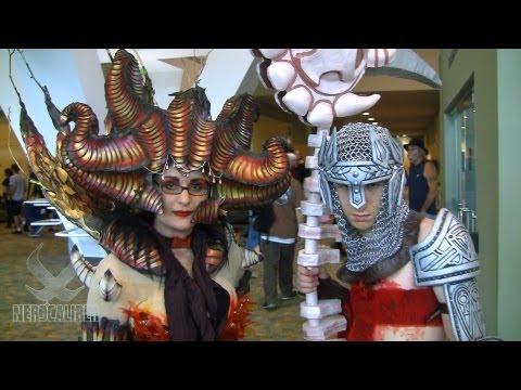 DANTE and BEATRICE! Dante's Inferno Video Game Cosplay at Otakon 2013