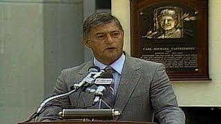 Yastrzemski delivers Hall of Fame induction speech