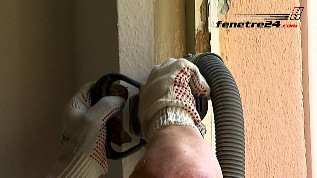 Mise en uvre d montage propre de la fen tre tv youtube - Comment enlever un encadrement de porte ...