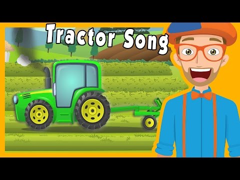 Tractors for Kids with Blippi | The Tractor Song