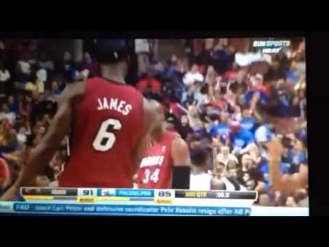 Ray Allen Half-court Buzzer Beater 3rd Quarter Heat Vs Sixe video
