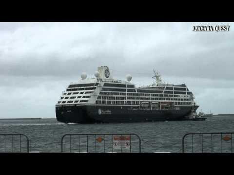 Arrival AZAMARA QUEST 2015 アザマラ・クエスト 沖縄初寄港(那覇クルーズターミナル)