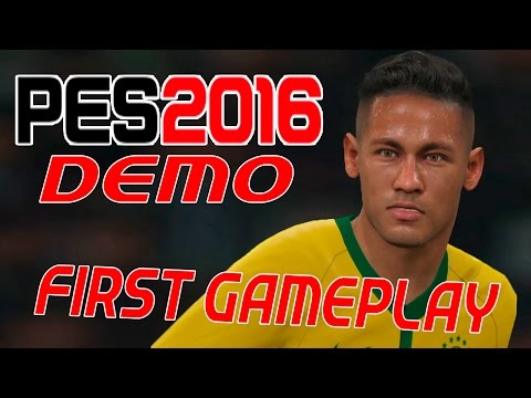PES 2016 - PRIMEIRO GAMEPLAY (FIRST GAMEPLAY) DEMO!