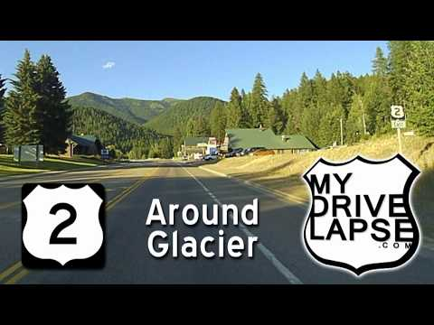 US 2 around Glacier National Park : West Glacier to East Glacier