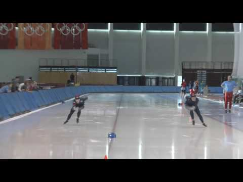 Speed Skating - Heather Richardson and Jennifer Rodriguez - 500 Meters - October 10, 2009