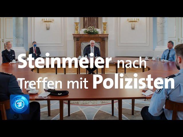 BundesprГsident Steinmeier zu Treffen mit Polizisten nach Einsatz vor ReichstagsgebГude in Berlin