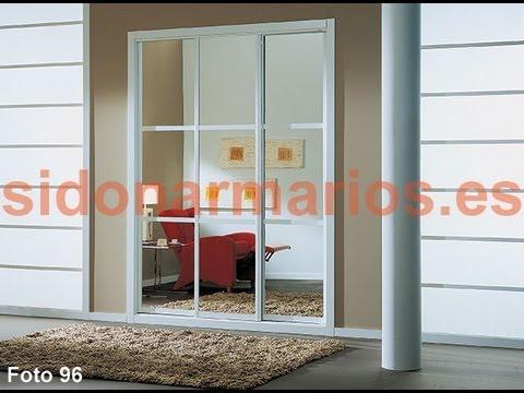 Frente de armario espejo con 2 separadores por puerta - Como hacer puertas de armario ...