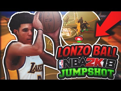 USING LONZO BALL'S NBA 2K18 JUMPSHOT! LONZO'S UGLY JUMPER CONFIRMED IN NBA 2K18! NBA 2K18