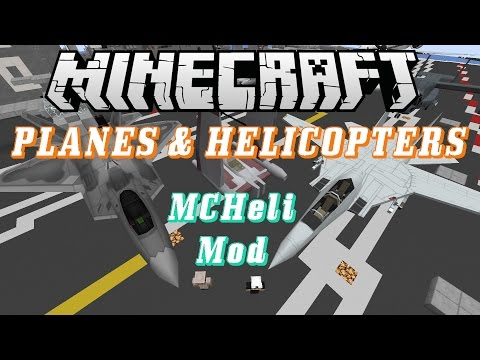 Minecraft Mod Review - MCHeli Mod 1.7.10 - Planes. Helicopters. and Boats!