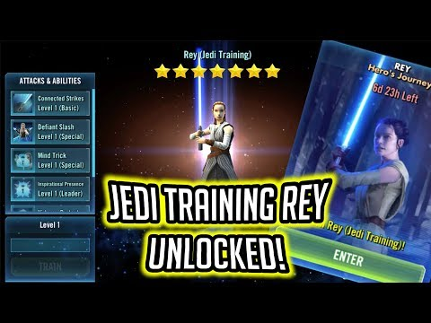 Jedi Training Rey Unlocked! - Rey's Hero's Journey Gameplay | Star Wars: Galaxy of Heroes