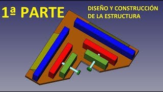 Como hacer prensa esquinera o escuadra angular - 1ª Parte - Diseño FreeCAD y construccion estructura