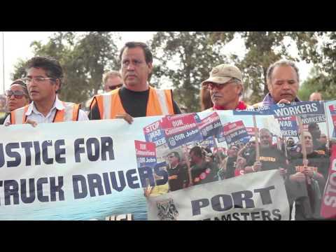 Port Truck Driver Strike