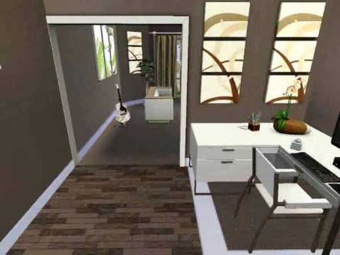 The sims 3 house modern wood 65 youtube - Sims 3 wohnzimmer modern ...