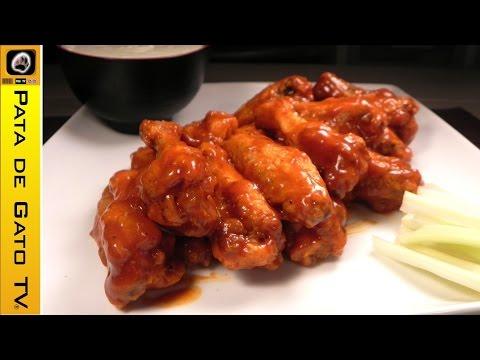 Alitas de pollo picantes caseras y paso a paso / Hot buffalo wings, homemade and step by step