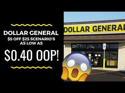 WOW!  HOT $5 off $25 Dollar General Scenario's for 9/22/18