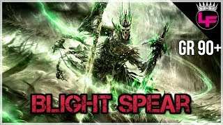 Fastest Build in the Game! Blight Spear Speedfarm Build GR 90+