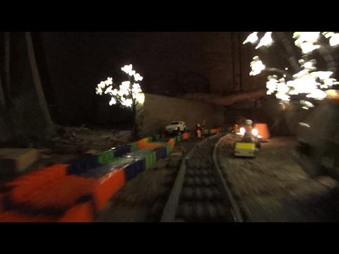 夜のVR 360レゴ水中列車
