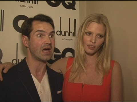 Lara Stone discusses husband David Walliams' Thames swim