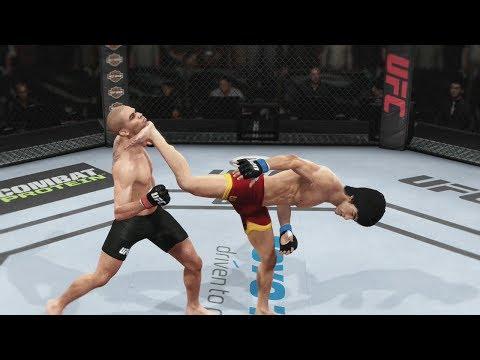 EA UFC (PS4) Gameplay: Bruce Lee vs Renan Barao (Bantamweight) 5 Rounds