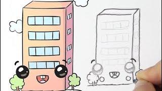 Cómo dibujar un Edificio Kawaii
