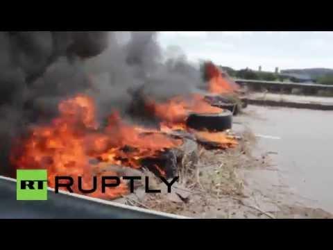 Brazil: Protesters burn tyres in Fortaleza as BRICS summit begins