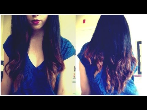 DIY OMBRE Dye Dark Hair at Home!