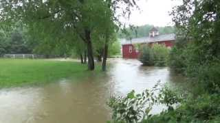 Flash flood hits Granville, Ohio