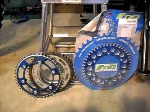 WR250R WR250X Installing WR250F sprockets on your R or X for higher top speed or torque