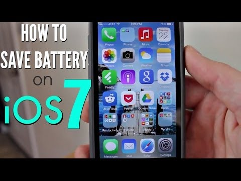How to Save Battery on iOS 7 - Top 13 Tips