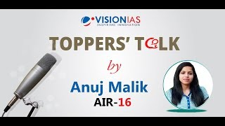 Toppers' Talk by Anuj Malik (AIR-16)