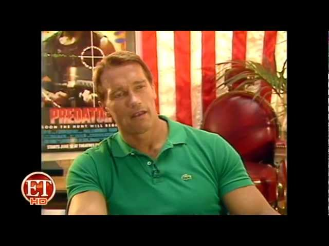 Schwarzenegger and Kevin Peter Hall (Predator interview)