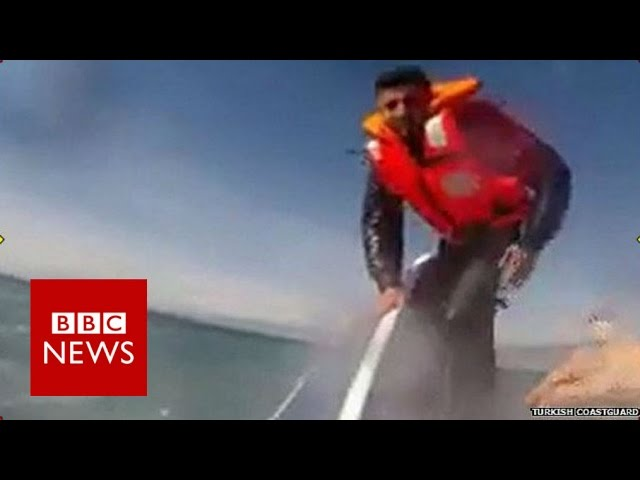 Headcam footage shows migrant rescue - BBC News
