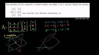 IIT JEE Matrix Equations