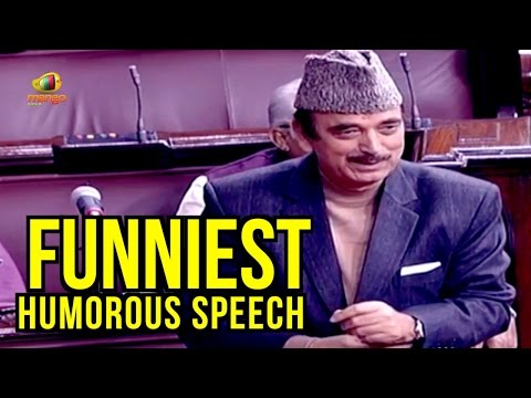 Ghulam Nabi Azad Funniest Humorous Speech | Parliament Session | Mango News