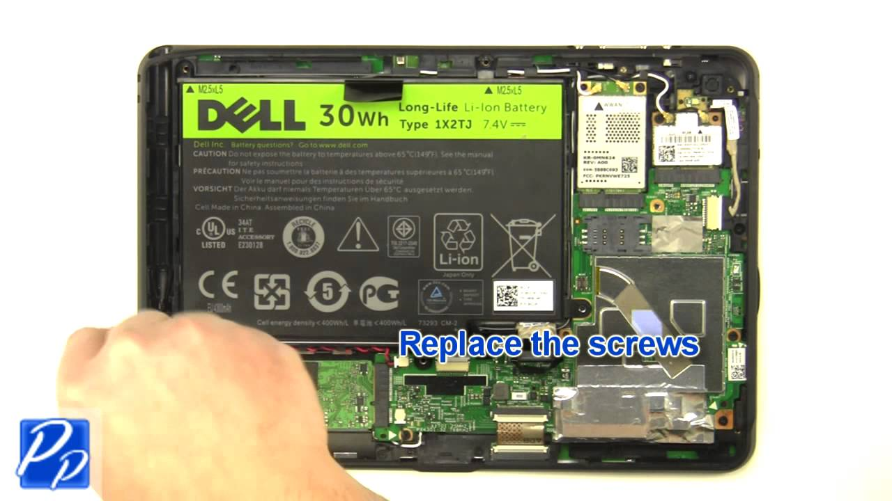 Dell Latitude ST Tablet Battery Replacement Video Tutorial