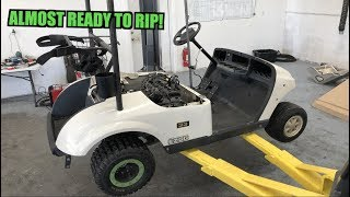 600cc Swapped Golf Cart Is Almost Ready to Drive! (Build Off Day 3)