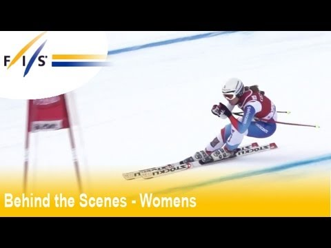 Focus on CHEMMY ALCOTT (GBR) - Val D'Isere - Behind the Scenes - Audi FIS Ski World Cup 2012