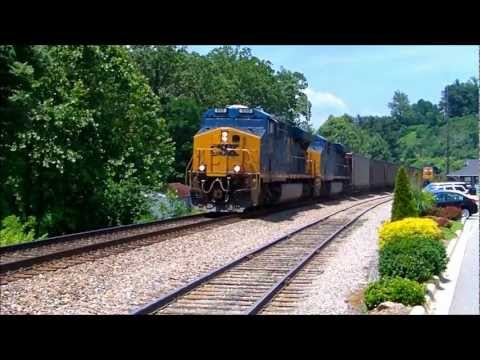 CSX Unit Coal Train With Helper Engine In Spruce Pine, NC