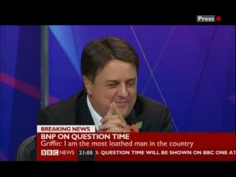 NICK GRIFFIN LAUGHING STOCK ON QUESTION TIME