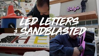 Bety's Boutique LED Letters, & Hartnell College Sandblasted Sign | S2 | E10