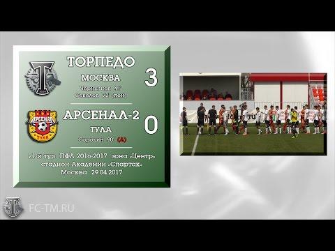 Торпедо Москва - Арсенал-2 (Тула) (3:0). Обзор матча