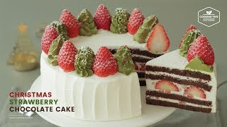 크리스마스🎄 딸기 초코 케이크 만들기 : Christmas Strawberry Chocolate Cake Recipe | Cooking tree